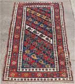 A late 19th Century Caucasian Gendje rug, 250cm x 110cm