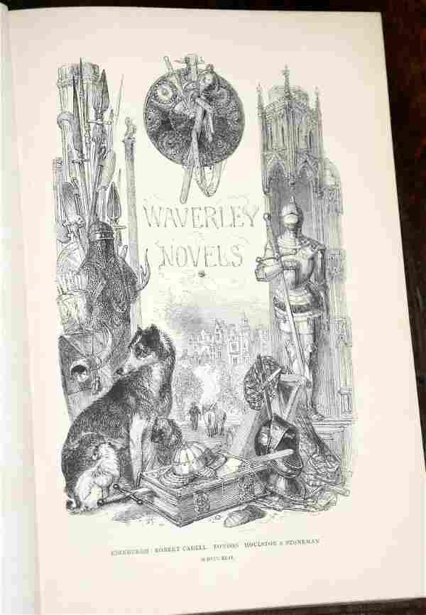 Scott (Sir W) Waverley Novels, Edinburgh and London
