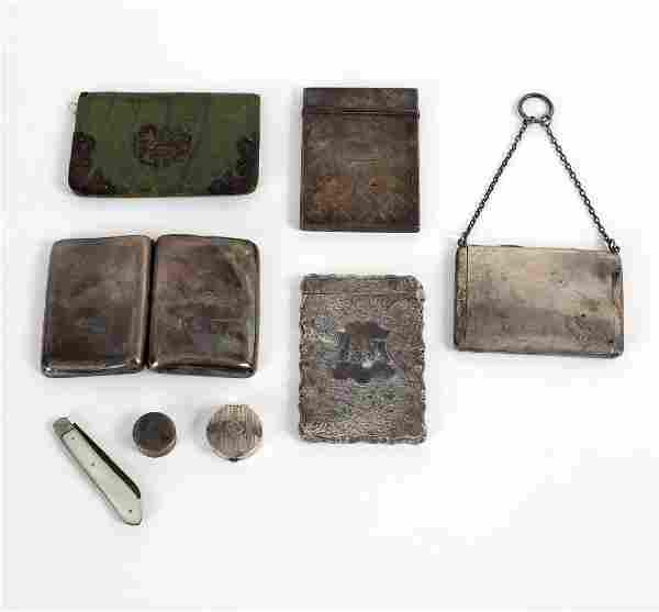 A Victorian silver visiting card case, George Unite,