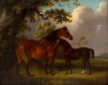 Edwin May Fox (act. 1830-1870)/Horse and Foal in a