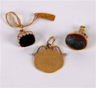 A George III spade guinea, 1790, mounted as a pendant,