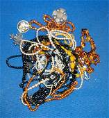 A quantity of costume jewellery to include a Judy Laws