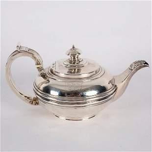 A George IV silver teapot possibly William Bateman