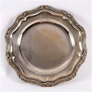 A Danish dinner plate by Michelsen the raised reeded