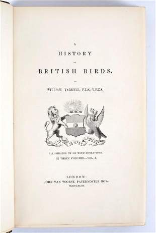 Yarrell W History of British Birds three volumes