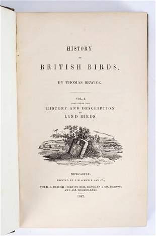 Bewick Thomas British Birds two volumes Newcastle