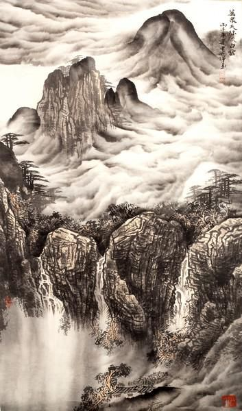 Painted scroll by Shen Shihui (born 1959)/Tens of