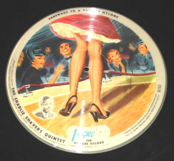 """13: 78 Vinyl Picture Record """"Serenade to a Pair of Nylo"""