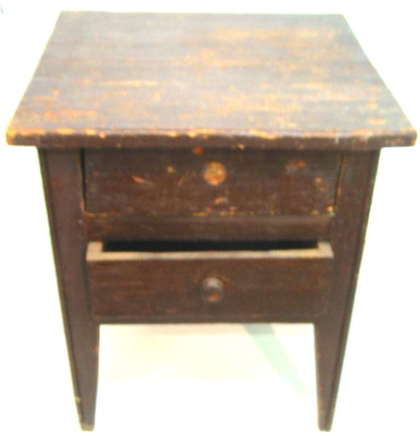 20: Southern Pine 1800s 2 Drawer Stand