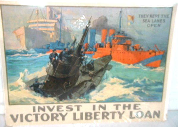 37: WWI Poster Sea Lanes Open