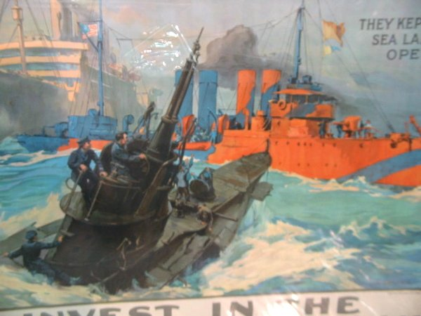 37: WWI Poster Sea Lanes Open - 2
