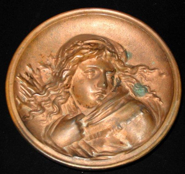 41: Bronze Girl B & H bradley Hubbard