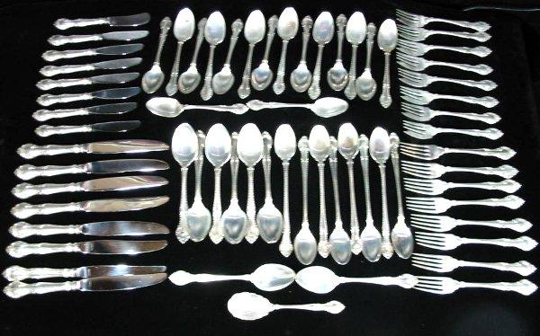 44: Gorham Gadroon Sterling Silver Flatware