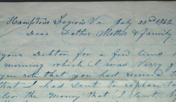 84: Civil War Letters - 3