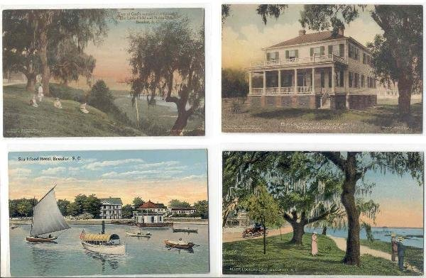 125: SC Beaufort early 1900's lot of 7 postcards