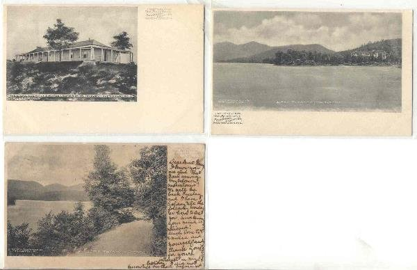 126: NC Lake Toxaway 3 early 1900's postcards
