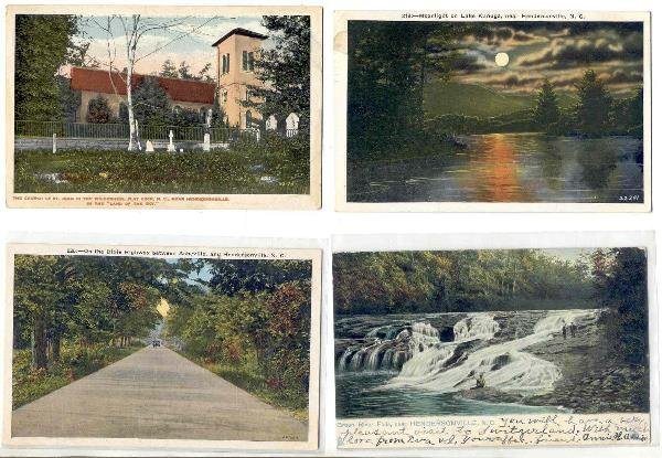 127: NC  Hendersonville lot of 6 postcards