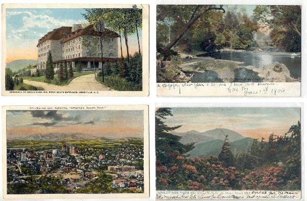 128: NC Asheville  - lot of 12  postcards