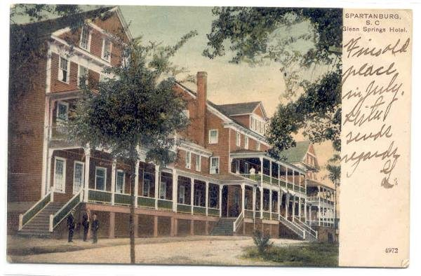 134: SC Spartanburg Glenn Springs Hotel 1907c