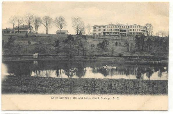 136: SC Chick Springs Hotel & Lake 1900