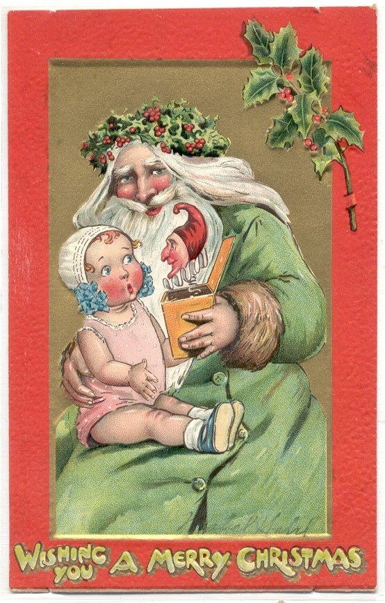 224: 4 Santa Postcards lot