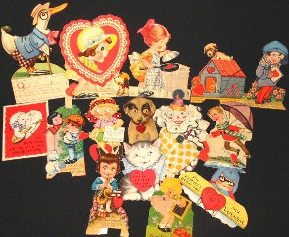 2: 15 vintage Mechanical Valentine cards