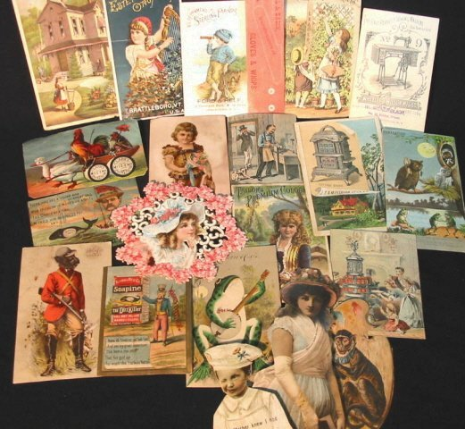 4: Victorian Trade cards approx. 20
