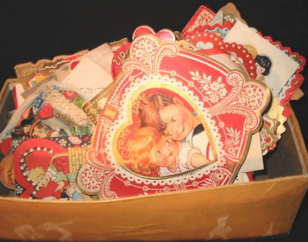 11: Shoe box full Valentine Cards