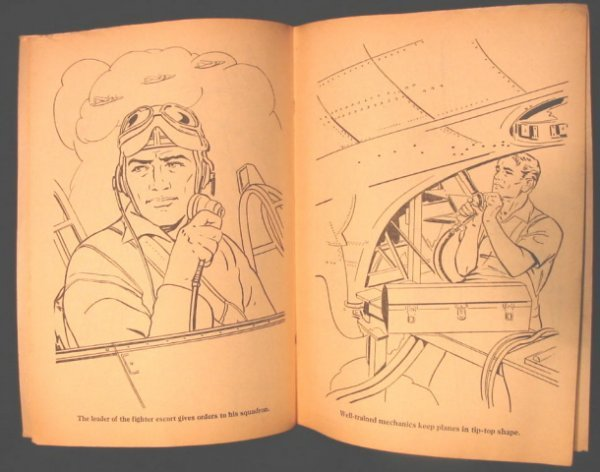 17: Flying Fort Coloring Book WWII B17 Merrill