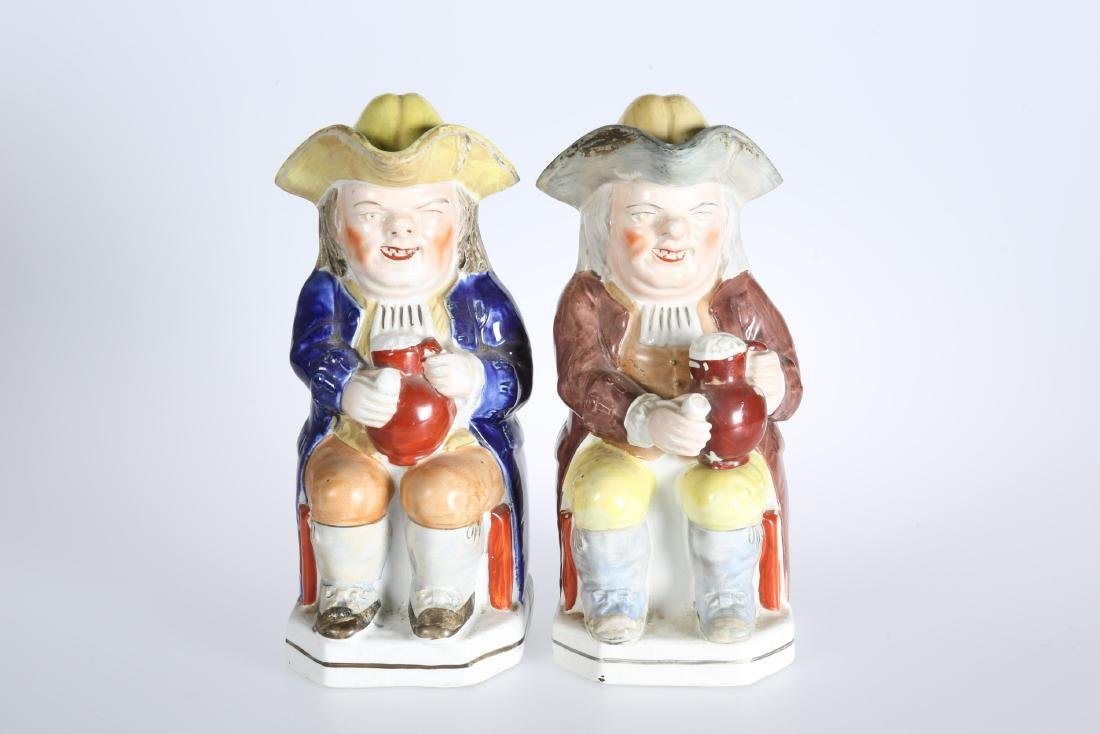 A PAIR OF TOBY JUGS, LATE 19th CENTURY, each in