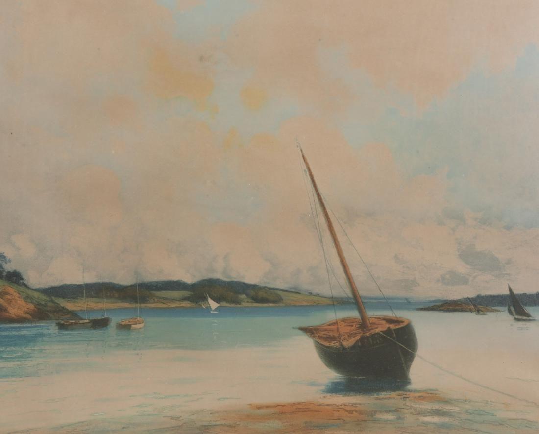 PAUL EMILE LECOMTE (1877-1950), BORDS DE LA RANCE,