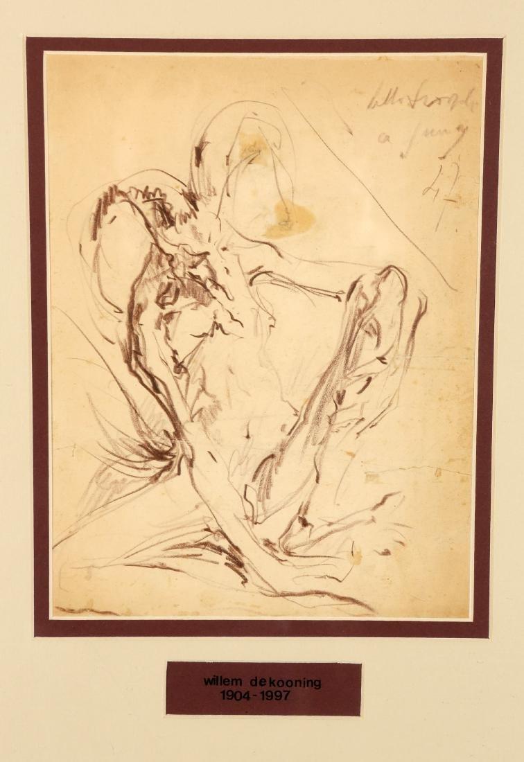 ATTRIBUTED TO WILLEM DE KOONING (1904-1997), FIGURE,
