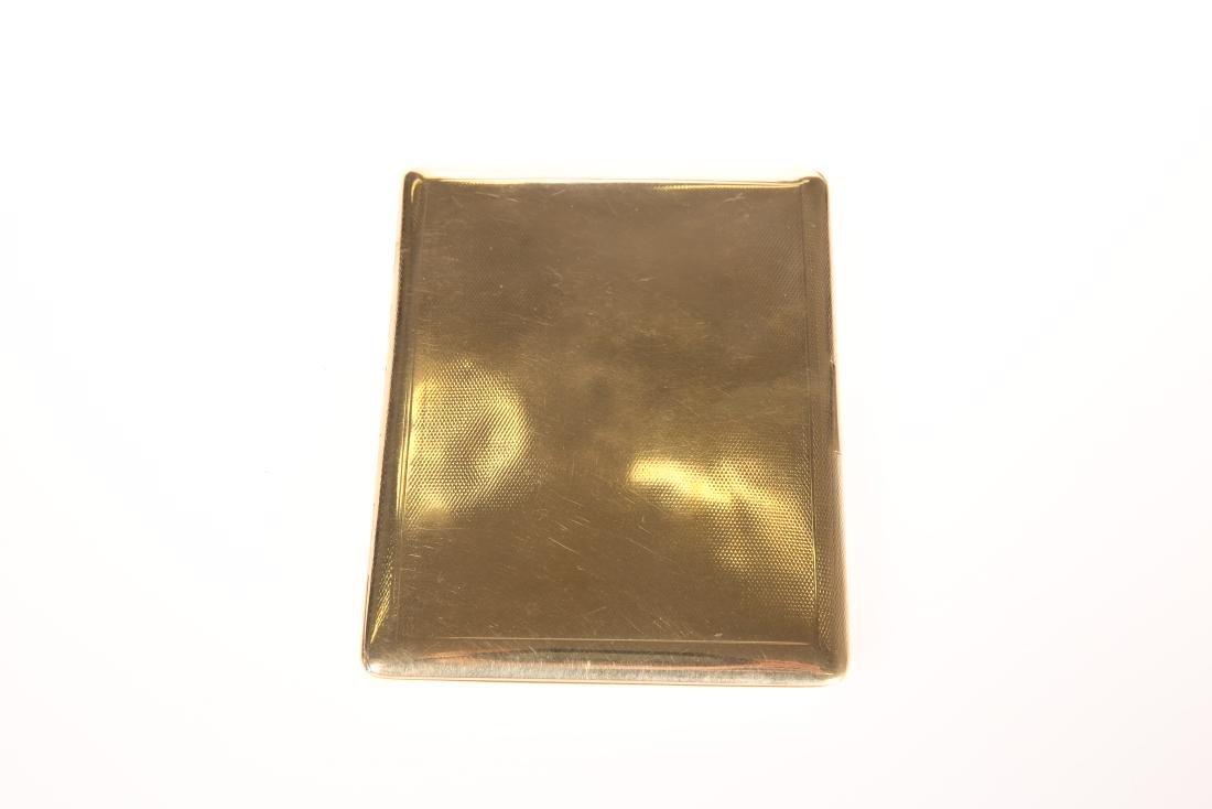 A 9 CARAT GOLD CIGARETTE CASE, BIRMINGHAM, 1921, with