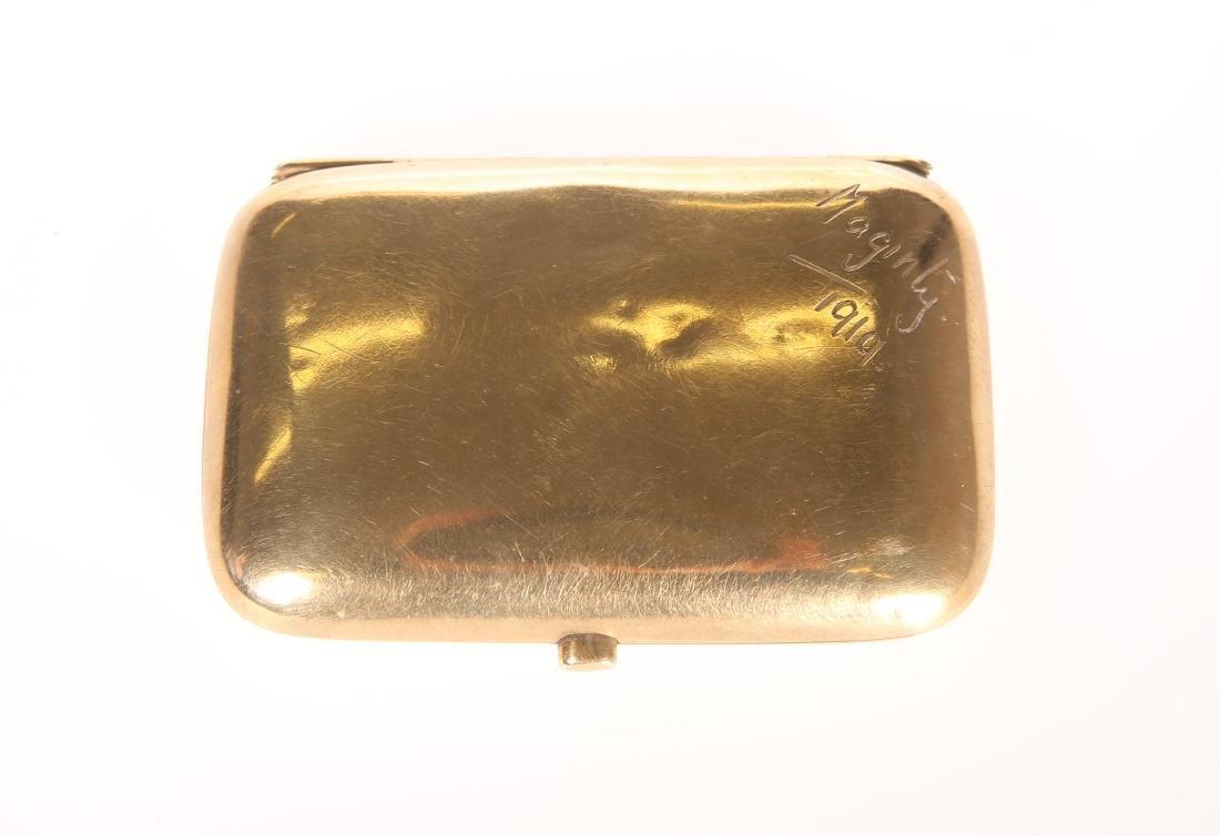 A 9 CARAT GOLD CIGARETTE CASE, BIRMINGHAM, 1918, shaped