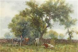 GEORGE HAMILTON CONSTANTINE (1878-1967), MILKING TIME,