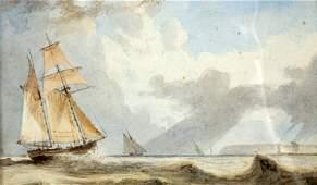 JOHN WILSON CARMICHAEL (1799-1868), COASTAL SHIPPING,