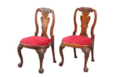 A PAIR OF CHINESE EXPORT PADOUK CHAIRS, SECOND QUARTER