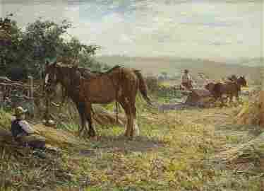 ERNEST HIGGINS RIGG (1868-1947), TAKING A REST, signed