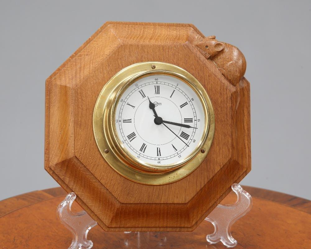 ROBERT THOMPSON OF KILBURN  A MOUSEMAN OAK WALL CLOCK,