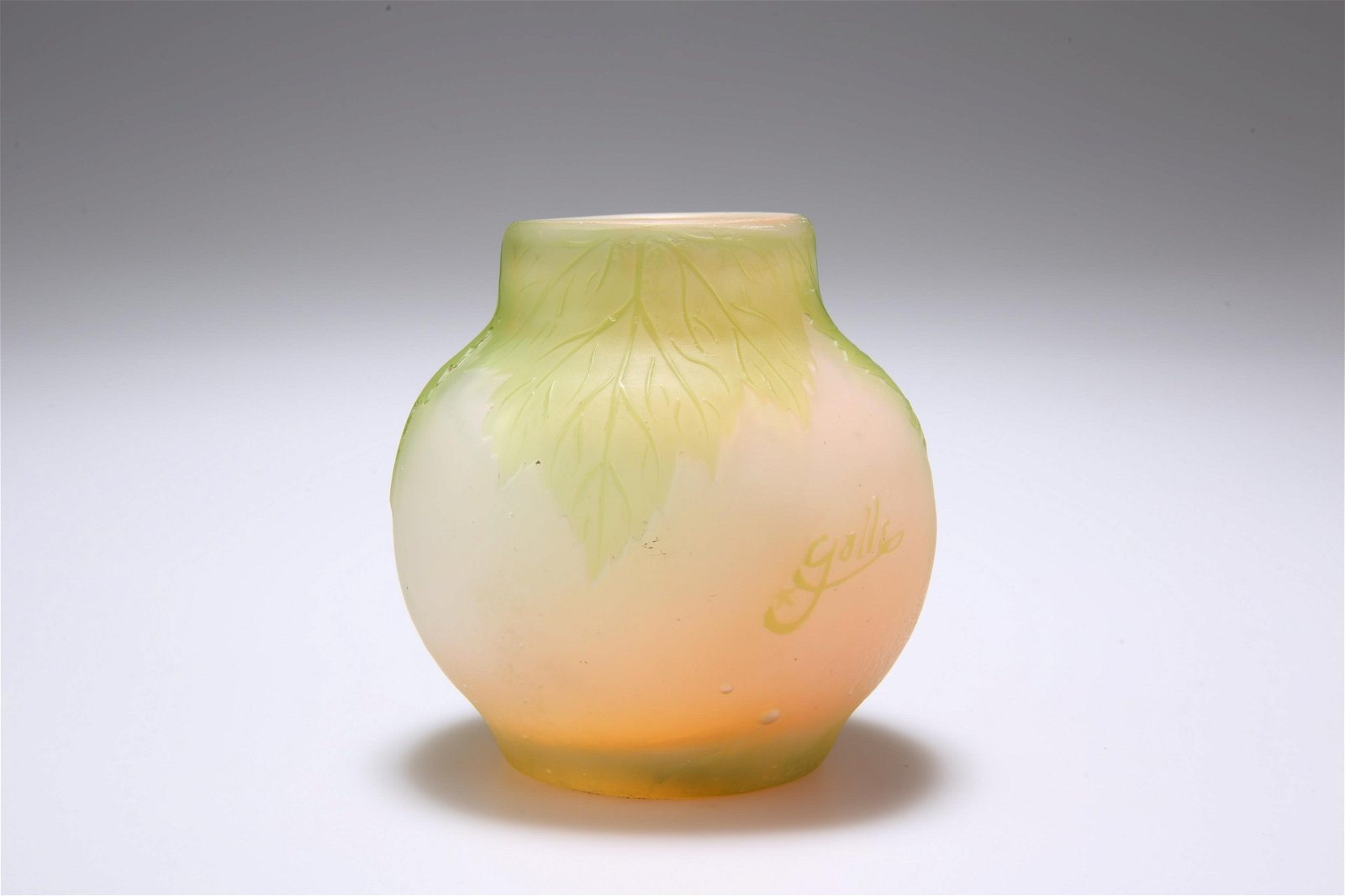 EMILE GALLE  A CAMEO GLASS VASE  Squat baluster form,