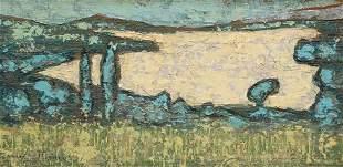 ANDRE MINAUX (1923-1988), AU BORD DE L'EAU, signed