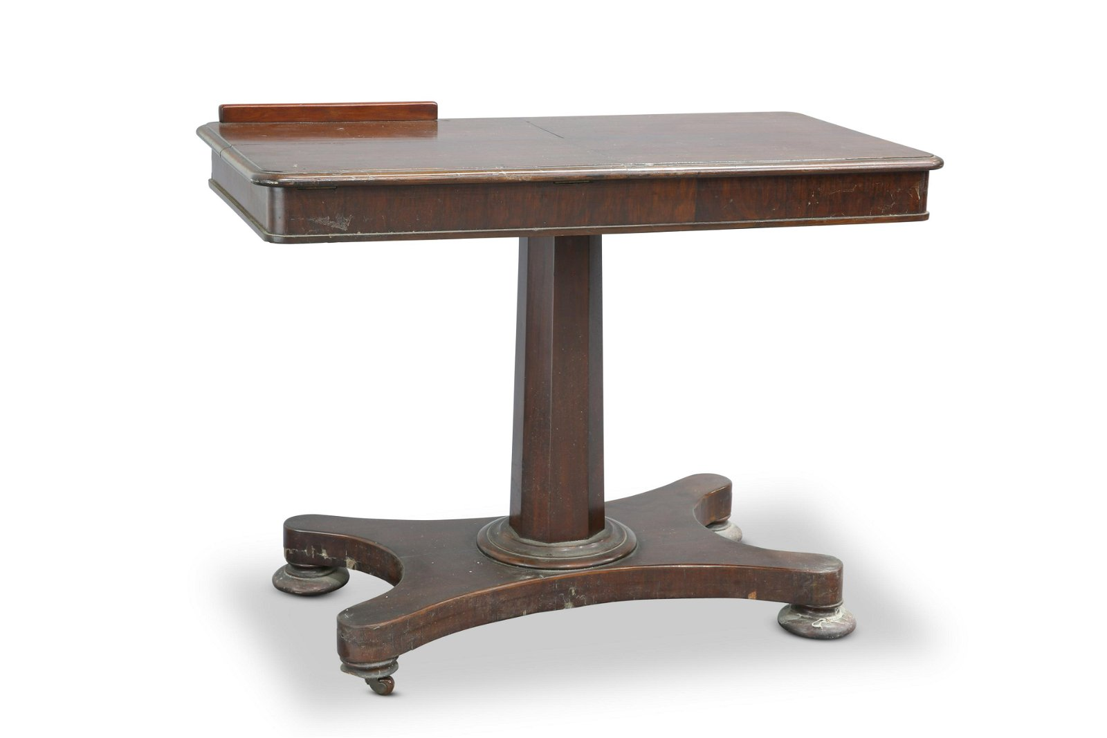 A 19TH CENTURY MAHOGANY READING TABLE, the moulded
