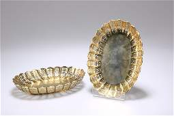 A PAIR OF VICTORIAN SILVER-GILT PIERCED DISHES, by