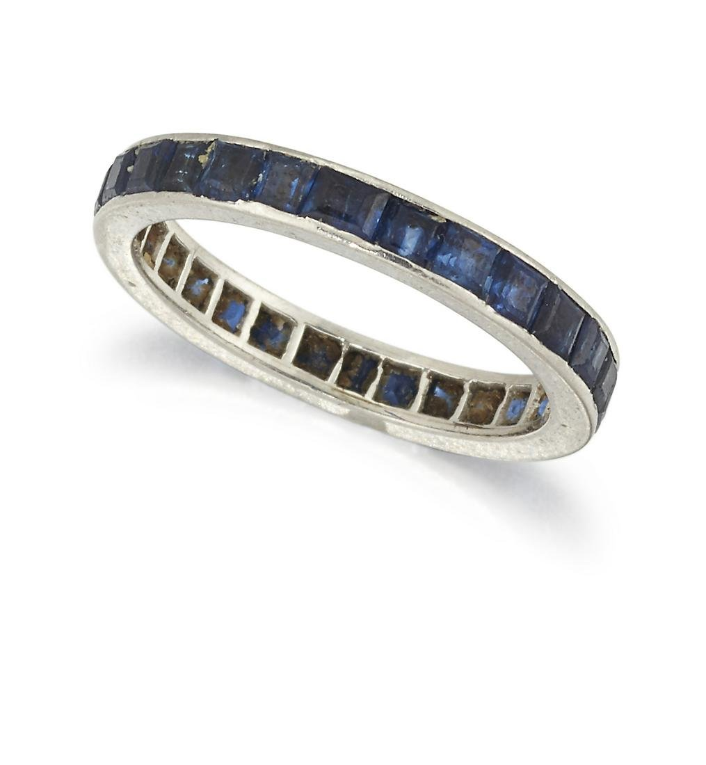 A SAPPHIRE ETERNITY RING, the full hoop eternity ring