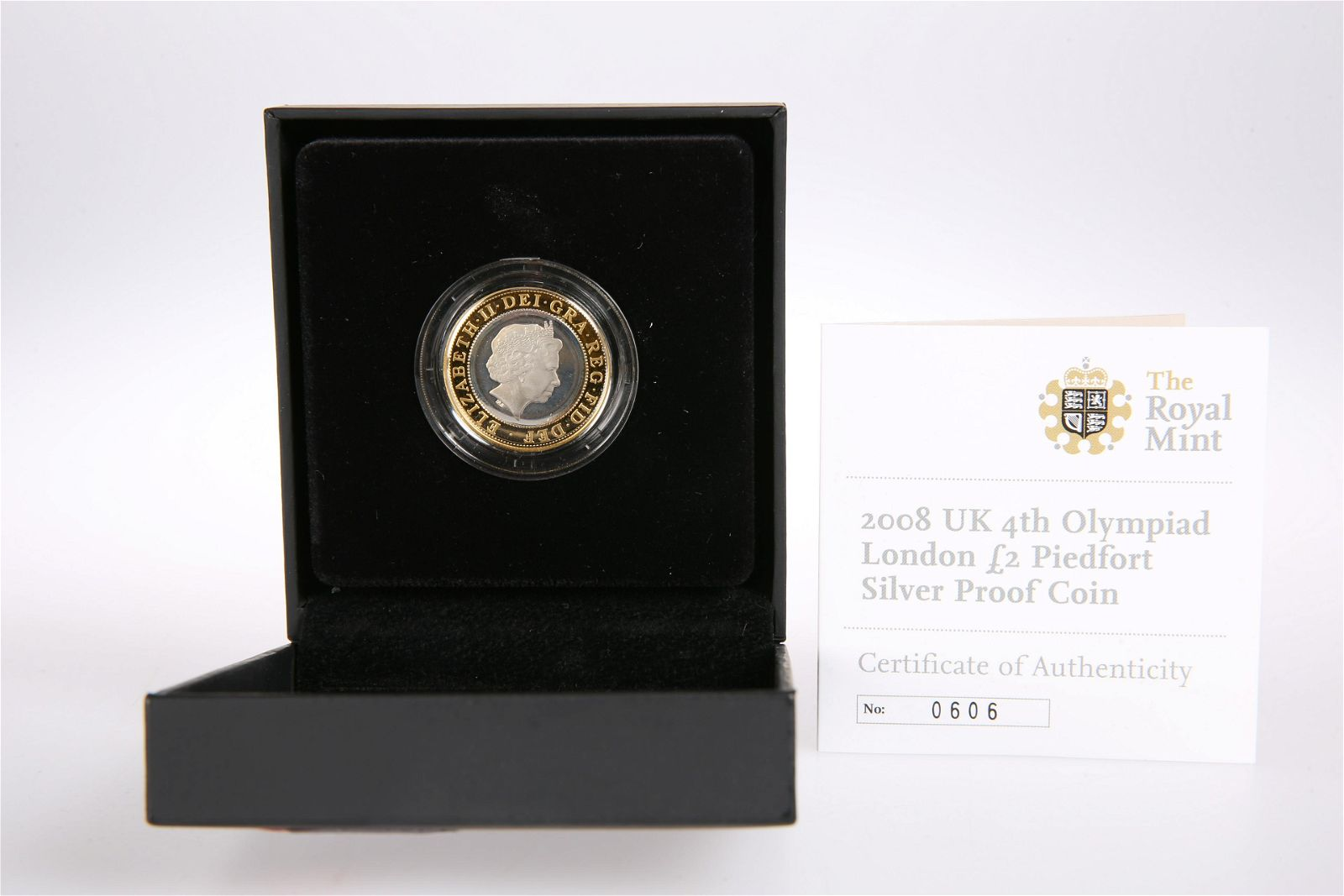 2008 UK 4TH OLYMPIAD LONDON TWO POUND PIEDFORT SILVER