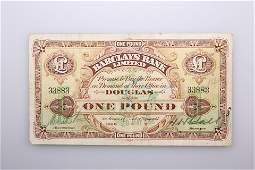 A VERY RARE ISLE OF MAN BANK NOTE Barclays Bank