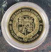 A LONDON MINT GOLD PROOF COIN THE 2015 EAST INDIA