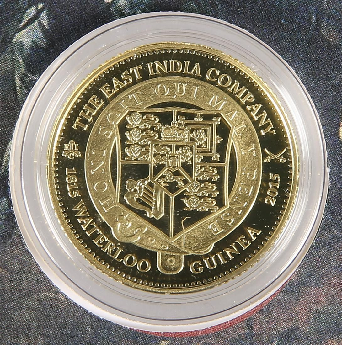 """A LONDON MINT GOLD PROOF COIN, """"THE 2015 EAST INDIA"""