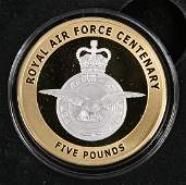 A GUERNSEY LIMITED EDITION FIVE POUND GOLD PROOF COIN