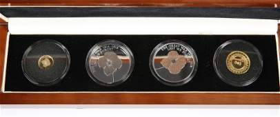 A COMMEMORATIVE PROOF COIN SET THE LEST WE FORGET